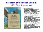freedom of the press exhibit 1791 first amendment
