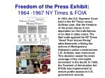 freedom of the press exhibit 1964 1967 ny times foia