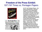 freedom of the press exhibit 1971 ny times vs pentagon papers