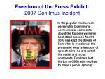 freedom of the press exhibit 2007 don imus incident