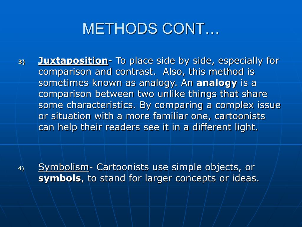 METHODS CONT…