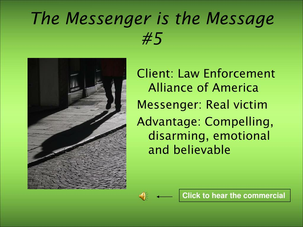 The Messenger is the Message #5
