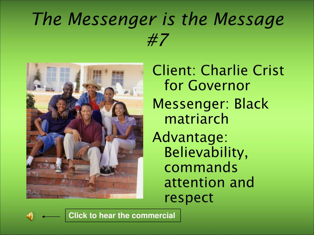 The Messenger is the Message #7