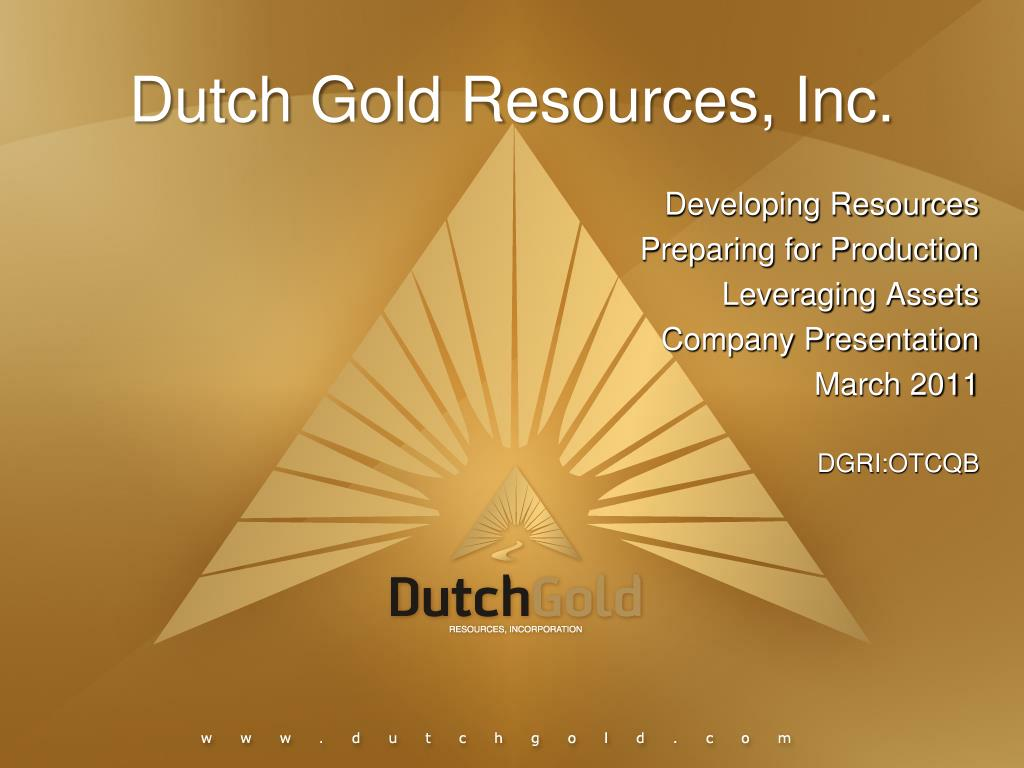dutch gold resources inc l.