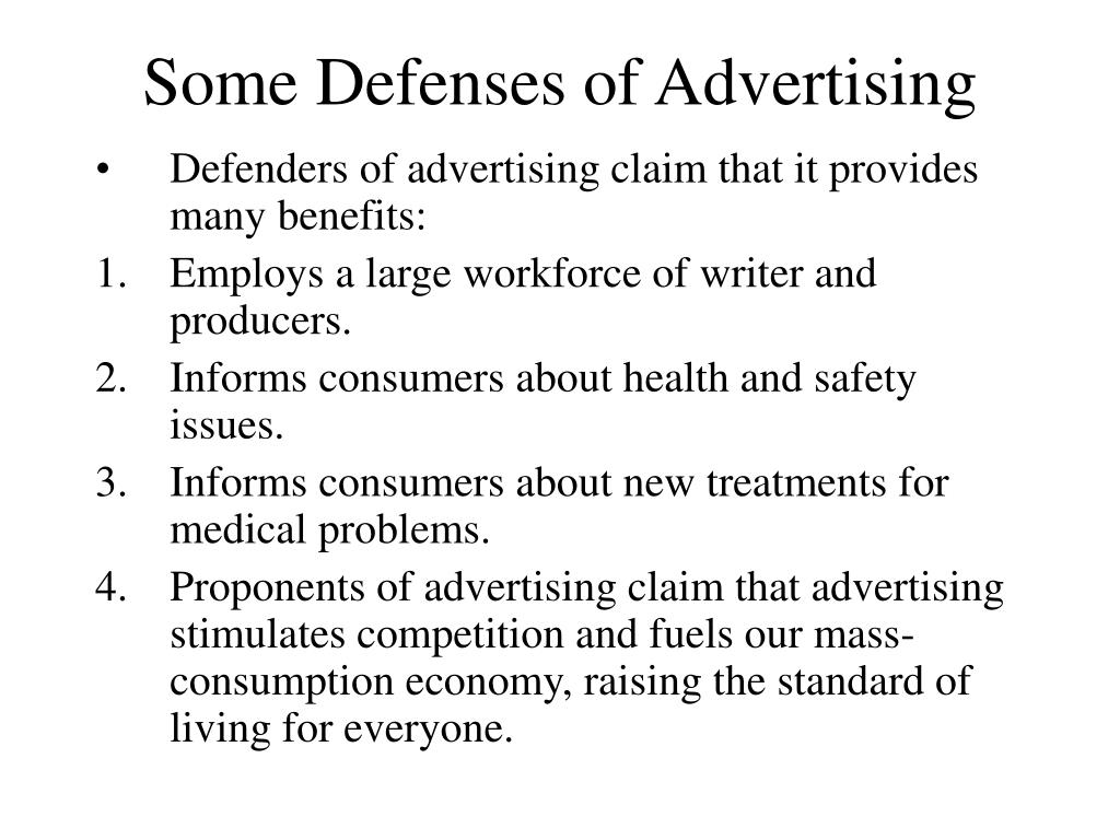 Some Defenses of Advertising
