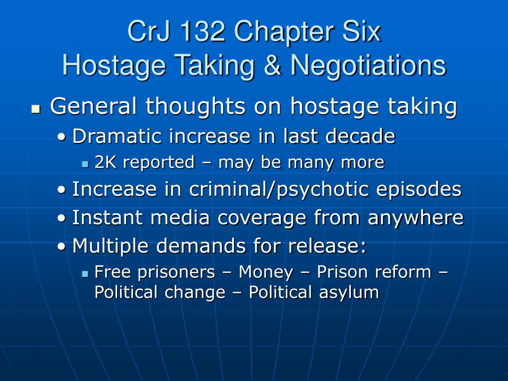 crj 132 chapter six hostage taking negotiations l.