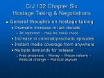 crj 132 chapter six hostage taking negotiations