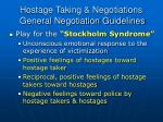 hostage taking negotiations general negotiation guidelines10
