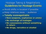 hostage taking negotiations guidelines for hostage events15