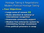 hostage taking negotiations modern political hostage taking