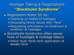 hostage taking negotiations stockholm syndrome12