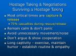 hostage taking negotiations surviving a hostage taking