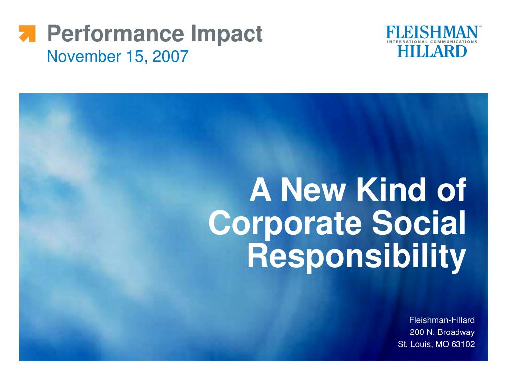 performance impact november 15 2007 l.