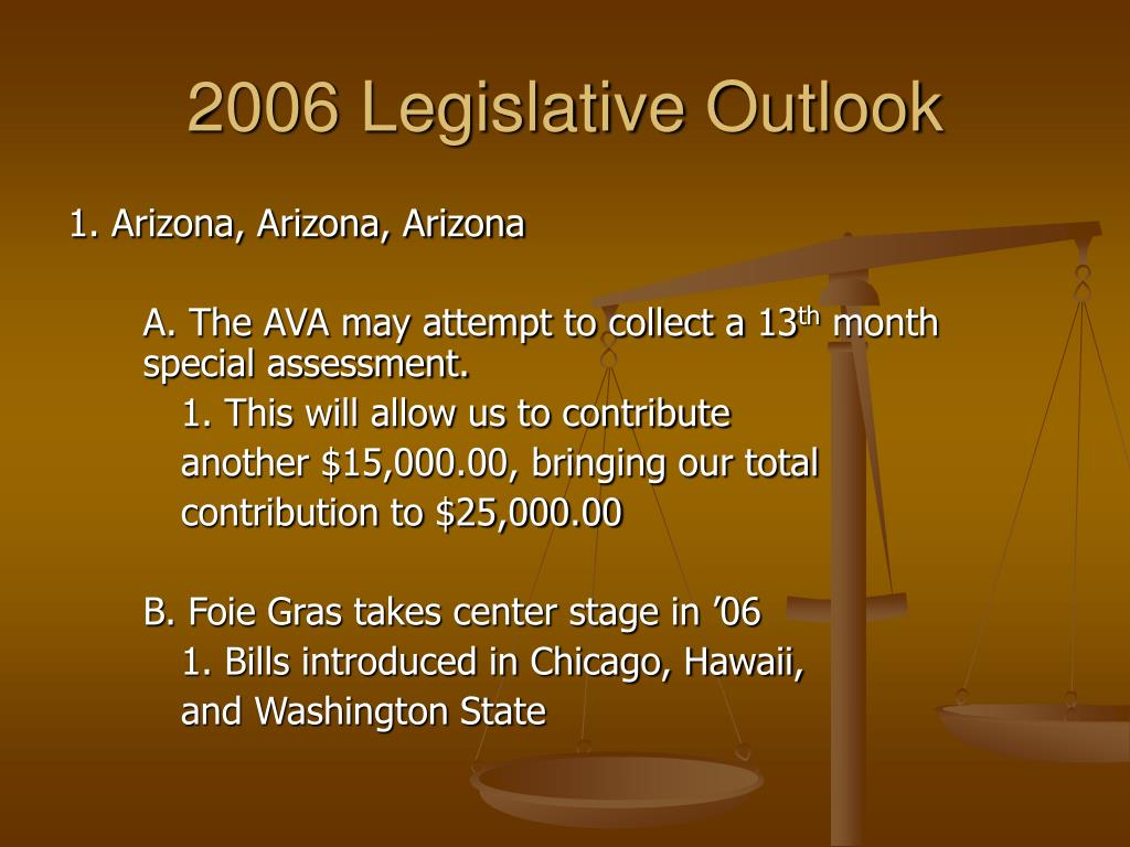 2006 Legislative Outlook