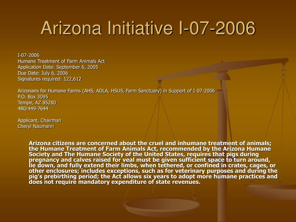 Arizona Initiative I-07-2006