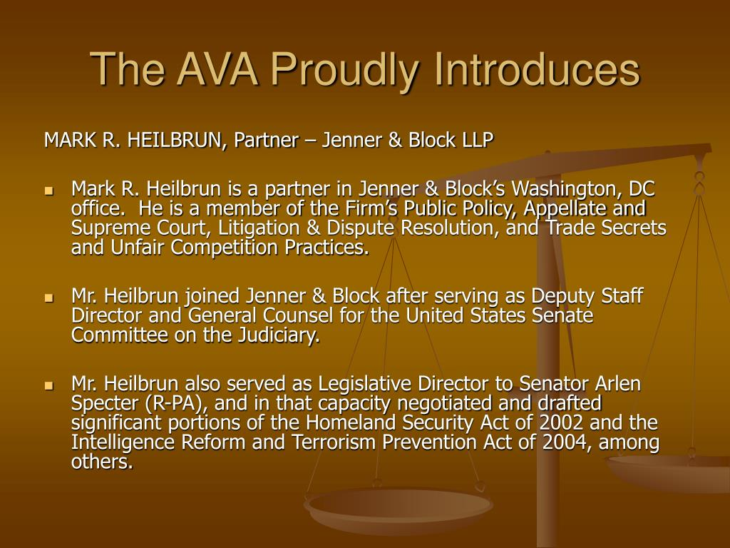 The AVA Proudly Introduces