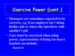 coercive power cont