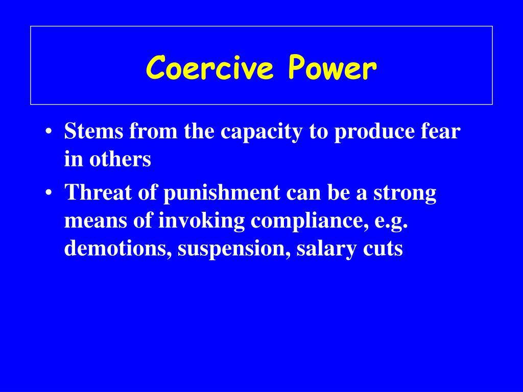 Coercive Power