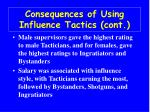 consequences of using influence tactics cont37