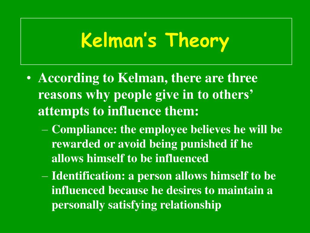 Kelman's Theory