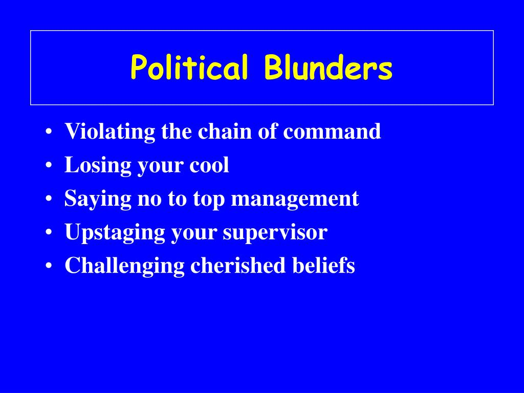 Political Blunders