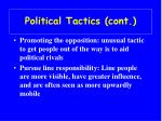 political tactics cont23