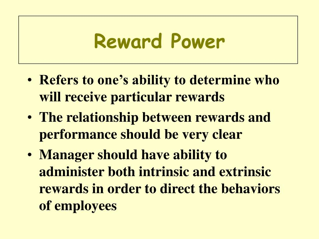 Reward Power