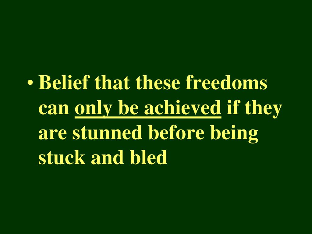 Belief that these freedoms can