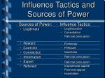 influence tactics and sources of power