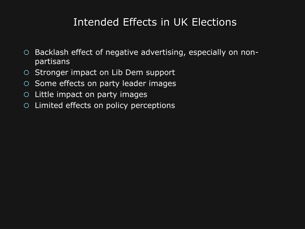 Intended Effects in UK Elections