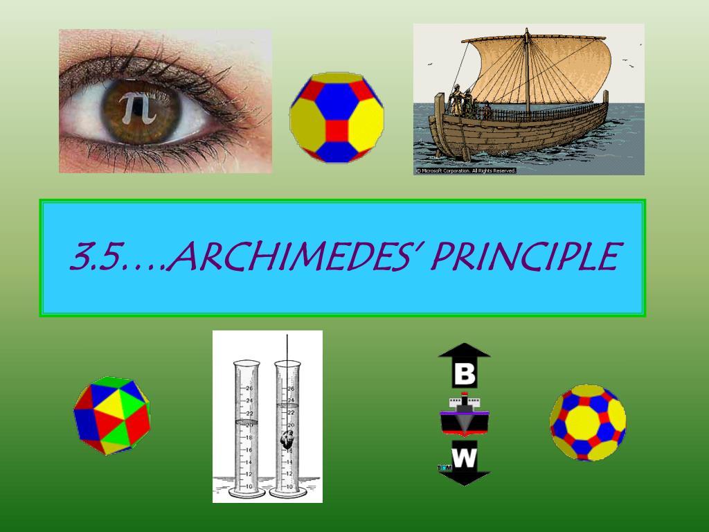 3.5….ARCHIMEDES' PRINCIPLE