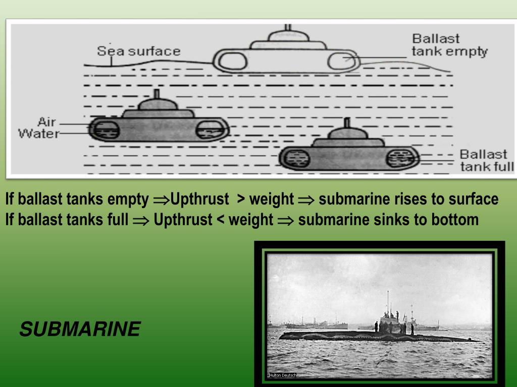 If ballast tanks empty