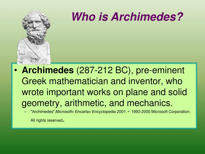 Who is Archimedes?