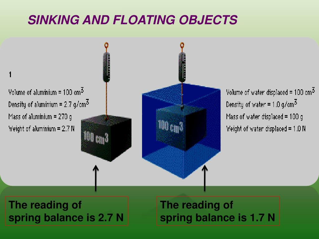 SINKING AND FLOATING OBJECTS