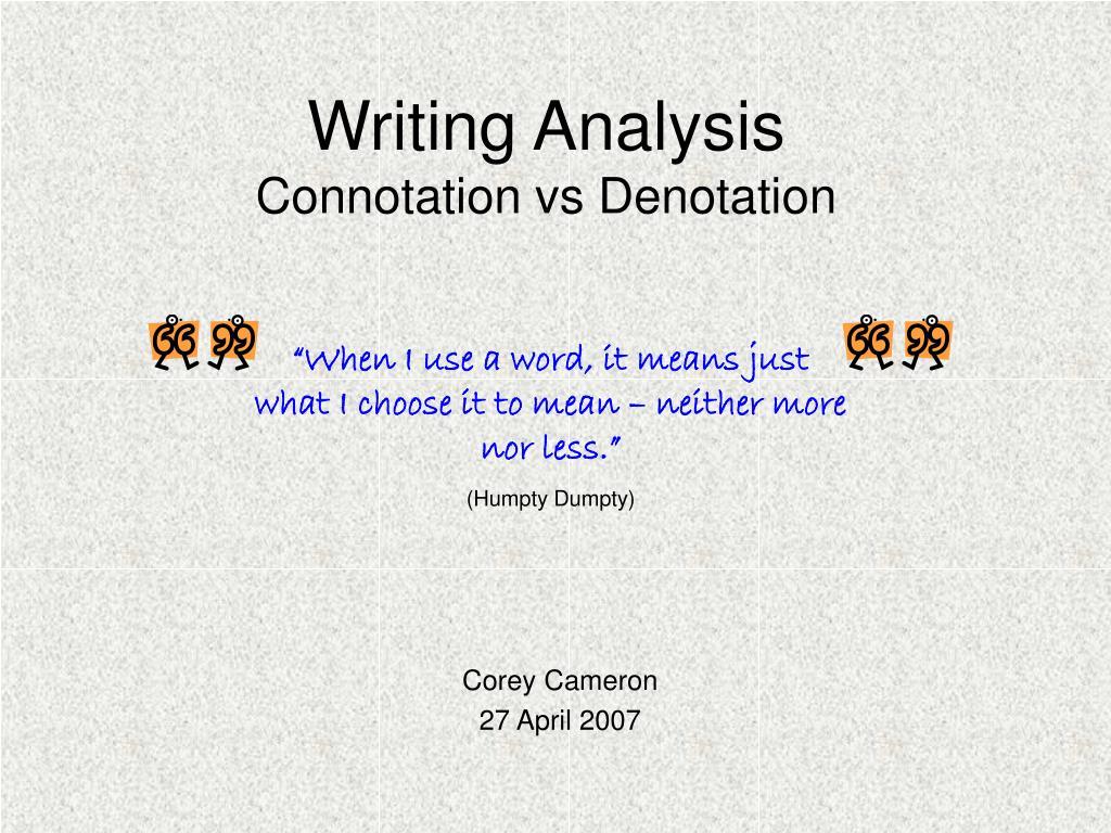 Writing Analysis