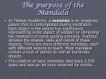 the purpose of the mandala