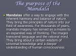 the purpose of the mandala9