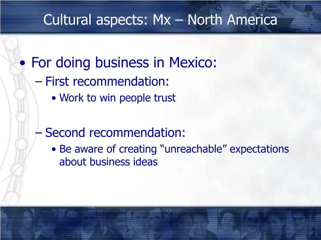 For doing business in Mexico: