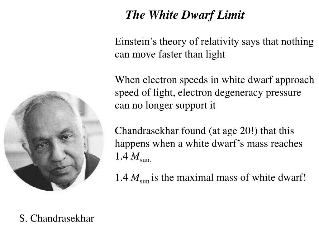 The White Dwarf Limit