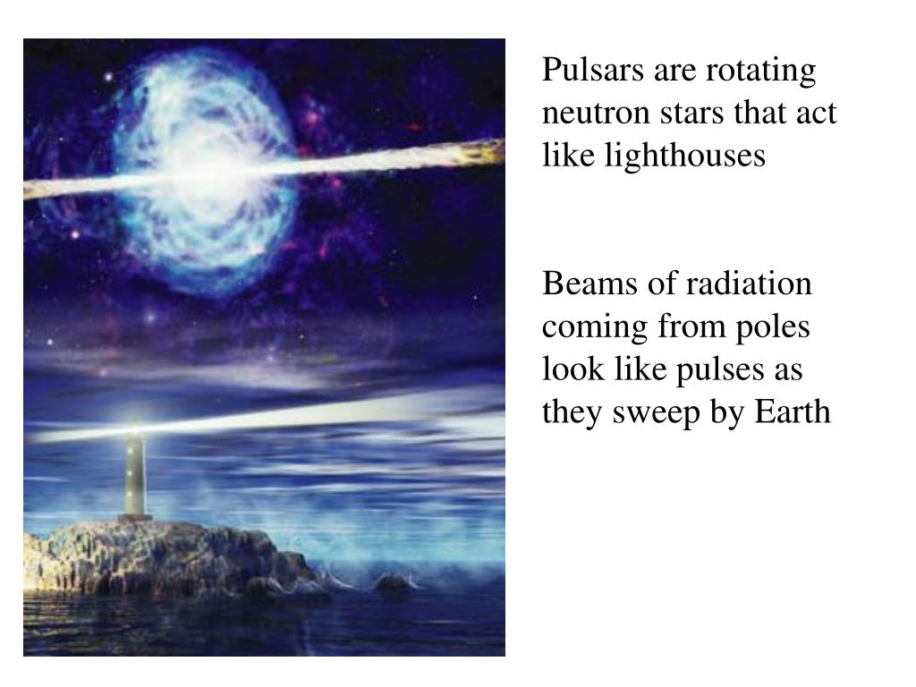 Pulsars are rotating neutron stars that act like lighthouses