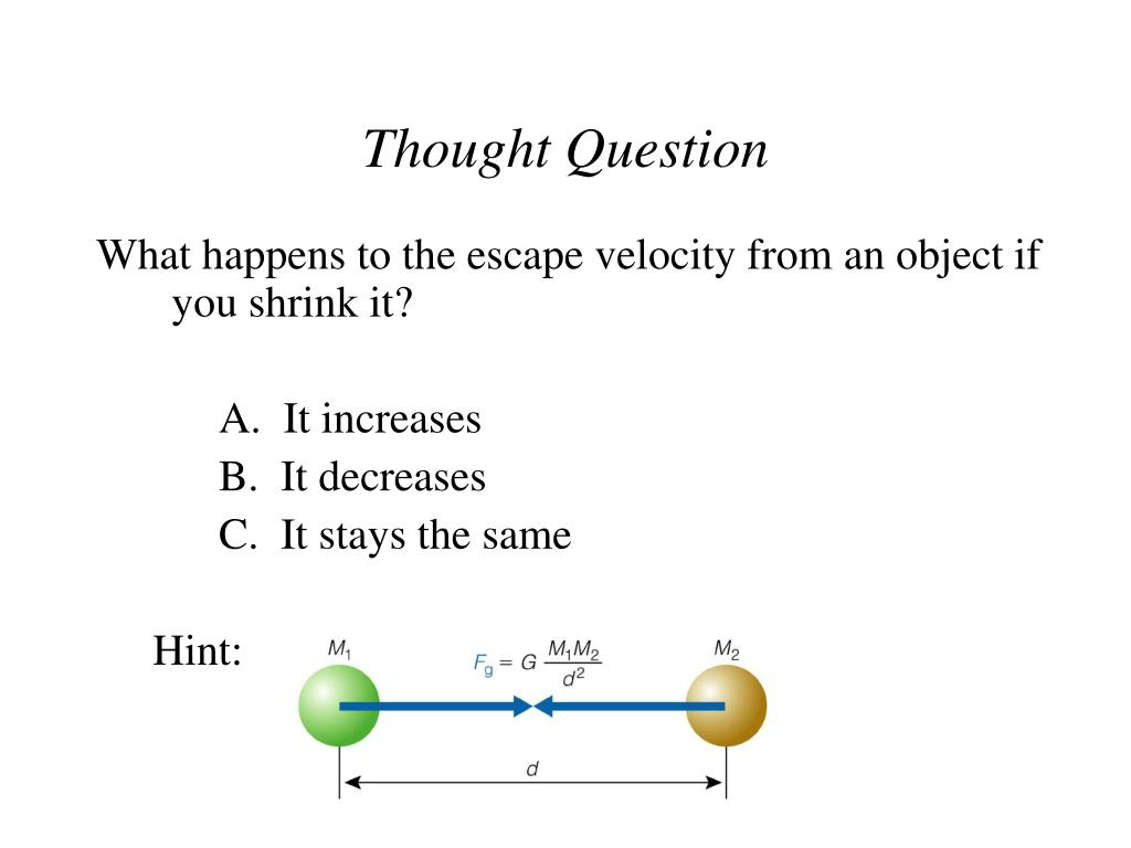 Thought Question