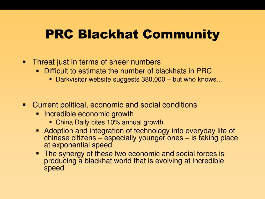 PRC Blackhat Community