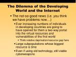 the dilemma of the developing world and the internet56
