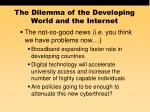 the dilemma of the developing world and the internet57