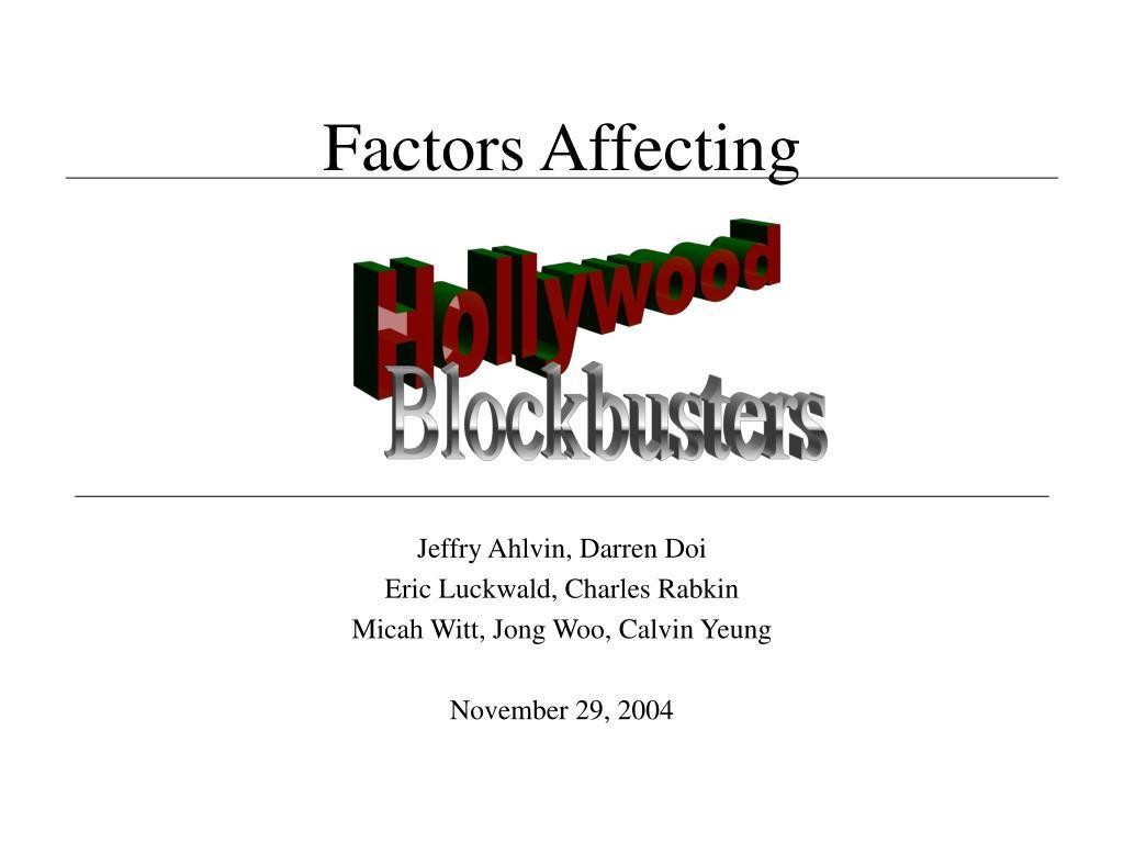 factors affecting l.