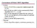correctness of prim s mst algorithm
