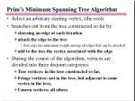 prim s minimum spanning tree algorithm