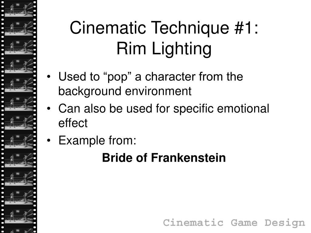 Cinematic Technique #1: