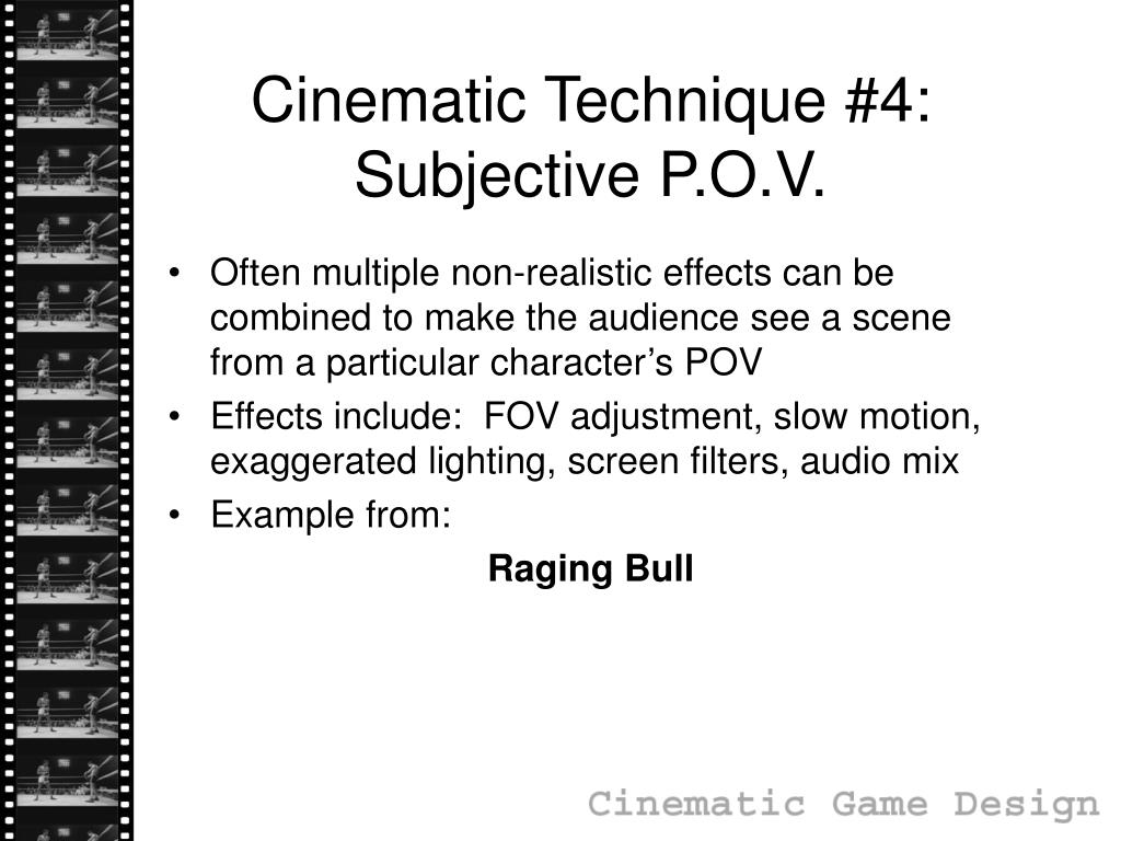 Cinematic Technique #4:
