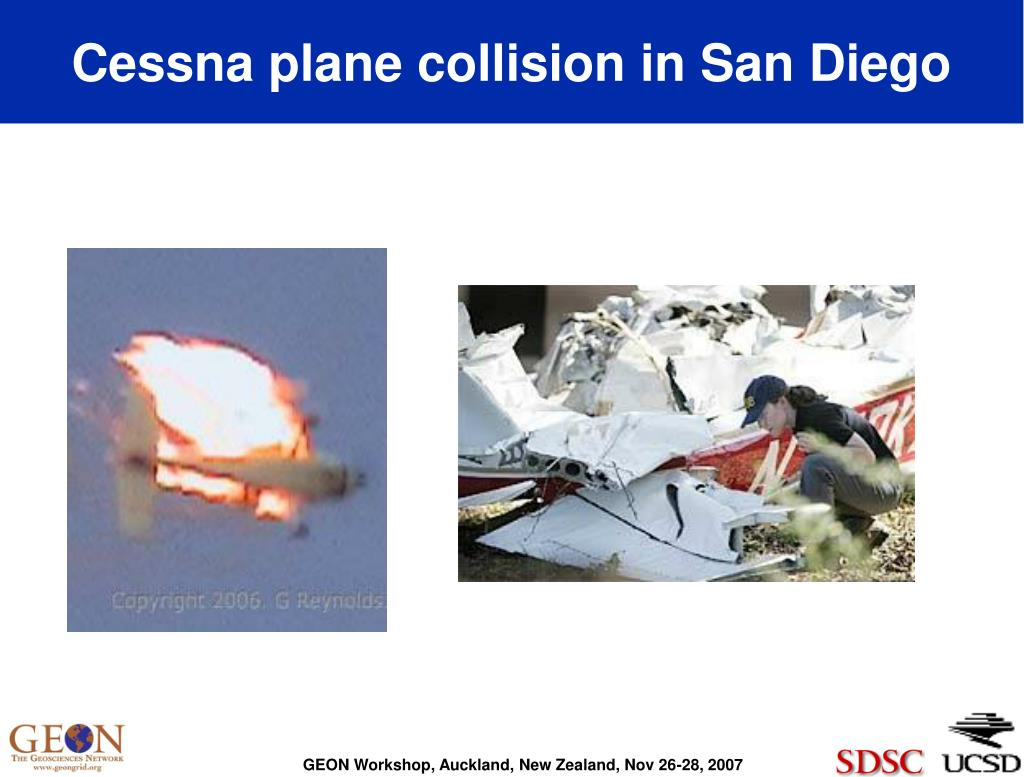 Cessna plane collision in San Diego
